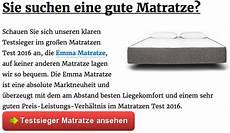 Beste Matratze Test - matratzen test 2016 die besten matratzen im testsieger