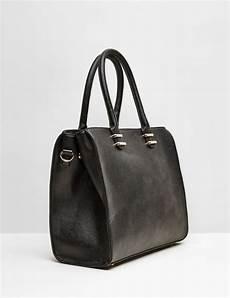 sac noir sac cabas simili cuir noir femme jennyfer