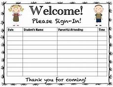 parent teacher conference sign in sheet by creative classroom kate