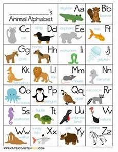 animal letter worksheets 13939 animal alphabet chart pre k 1st grade worksheet lesson planet