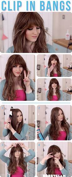 How To Style Your Hair With Bangs how to get a look with bangs without cutting your hair