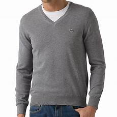 lacoste pullover strickpullover baumwolle v ausschnitt