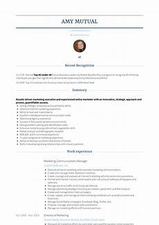 marketing communications manager resume sles and