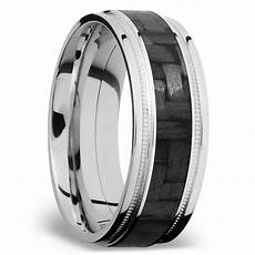 stepped edges carbon fiber inlay men s wedding ring with