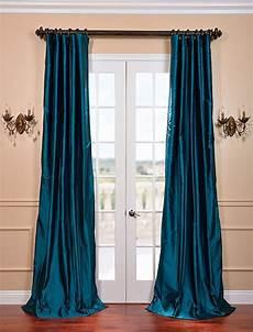Teal Drapes Curtains by Tahitian Teal Silk Taffeta Curtain Custom Cerasoli