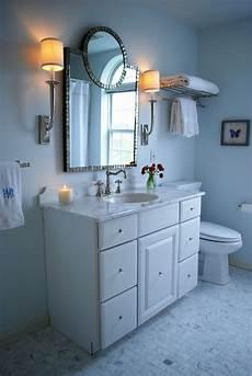 blue walls traditional bathroom benjamin