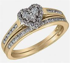 heart wedding ring sets heart shaped diamond yellow gold wedding ring sets design