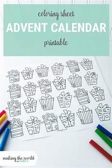 Malvorlagen Advent Calendar Print This For Advent Calendar Coloring