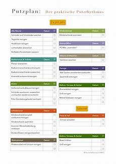 Putz Plan 2x Jahr Putzplan Planer Und Haushaltsplaner
