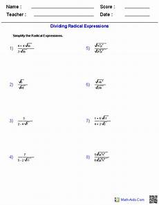 algebra worksheets radicals 8552 algebra 1 worksheets radical expressions worksheets