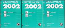 motor auto repair manual 2002 pontiac grand am electronic valve timing 2002 pontiac grand am and olds alero repair shop manual original 3 volume set