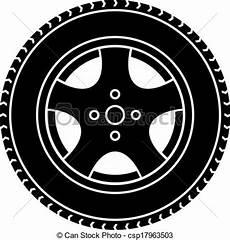 roue de voiture dessin roue voiture symbole vecteur noir blanc