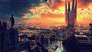Wallpaper Futuristic Future World 4K Art 20319