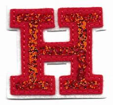 applique iron on letters sequin 2 quot letter quot h quot iron on embroidered