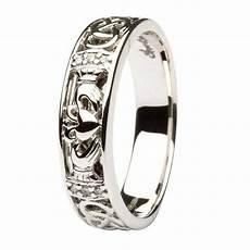 claddagh diamond wedding ring with celtic knot work
