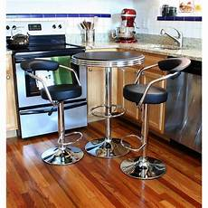 bar set amerihome retro style 37 in adjustable height bar table
