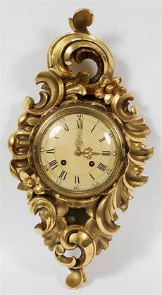 westerstrand gold leaf wall clock swedish