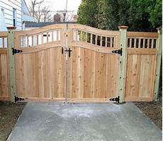 wooden fence gates designs custom arched