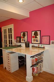 work table finished scrapbook com craft room dream