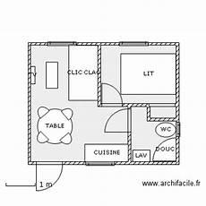 plan studio 20m2 plan de maison 20m2