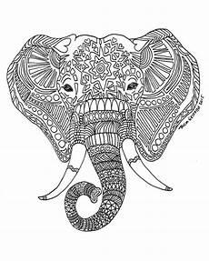 items similar to zen critters quot sun elephant quot coloring page