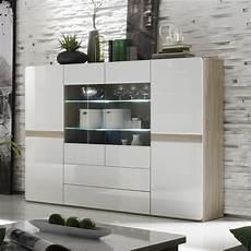 Buffet Haut Couleur Bois Et Blanc Laqu 233 Moderne Isidore 3