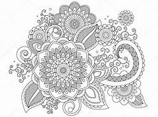 Ausmalbilder Erwachsene Muster Henna Muster Malvorlagen Stockfoto 169 Smk0473 128480092
