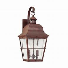 sea gull lighting chatham 2 light silver outdoor 21 in wall lantern with dimmable