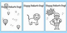 s day card template colouring design s day