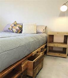 Whole Pallet Bed With Storage Drawers 101 Pallets