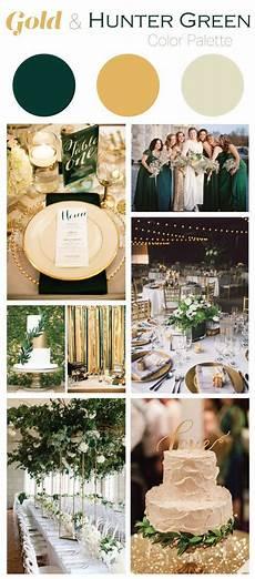 gold and hunter green wedding color palette baylor