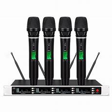 cordless microphone system 4x100 channels uhf true diversity wireless microphone for shure sm58 wireless ebay