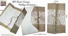 diy country wedding invitations menu holder hessian burlap lace recycled brown card diy