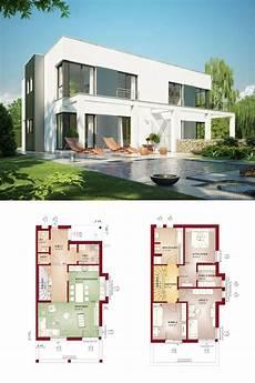 Moderne Doppelhäuser Grundrisse - design doppelhaus im bauhaus stil mit grundriss haus