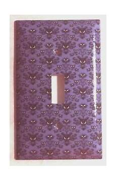 haunted mansion purple wallpaper light switch outlet wall cover plate home decor ebay