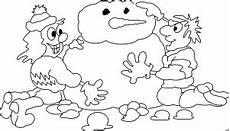Malvorlagen Schneemann Comic Kinder Bauen Schneemann Ausmalbild Malvorlage Comics