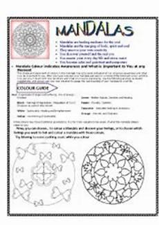 mandala history worksheet 15925 mandalas meaning and colouring