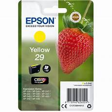 cartouche epson 29 fraise epson fraise 29 jaune cartouche imprimante epson sur