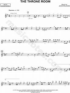 quot the throne room alto saxophone quot from star wars sheet music alto saxophone solo in c major