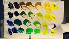 how to mix colors and get green acrylic paint youtube