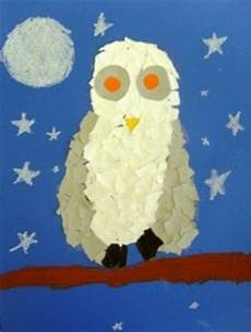 torn paper owls for second grade deep space sparkle
