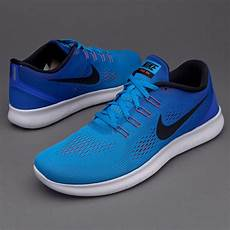 nike free run blue glow black racer blue bright crimson