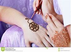 henna applying stock image image of human decoration