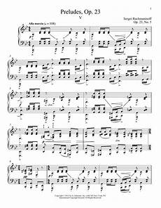prelude in g minor op 23 no 5 sheet music by sergei rachmaninoff piano 93264