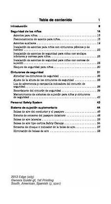 old car manuals online 2013 ford edge auto manual 2013 ford edge manual del propietario in spanish pdf 505 pages
