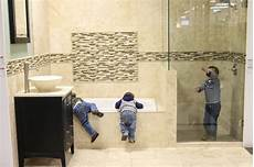 floor tile and decor tile combinations for any bathroom bower power