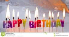 candele buon compleanno candele di buon compleanno illuminate fotografia stock