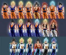 expanded vegeta goku drawings to onclude all the main forms i could remember