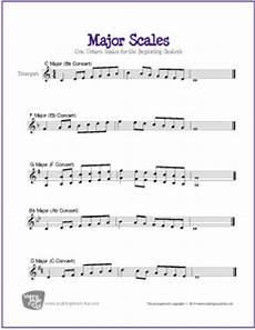 major scales for trumpet free printable sheet music digital print