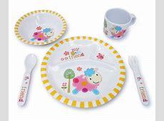 Amazon.com: Culina Kids Melamine Dinnerware   Lion. Set of